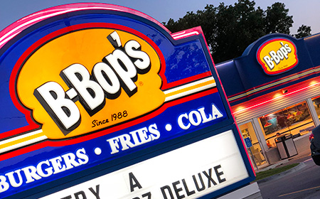 B Bop S Burgers Fries Cola Iowa